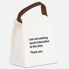 Antisocial Canvas Lunch Bag
