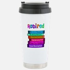 Funny Retired librarian Travel Mug