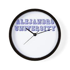 Alejandro University Wall Clock