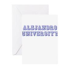 Alejandro University Greeting Cards (Pk of 10)