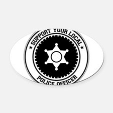Cute Support your local comedian Oval Car Magnet