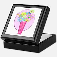 Pastel Flowers Keepsake Box