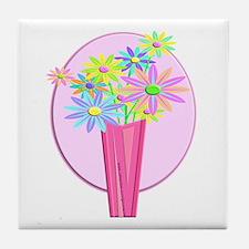 Pastel Flowers Tile Coaster