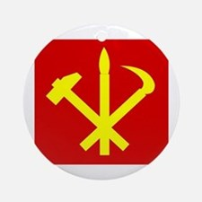 Korean Workers Party Ornament (Round)