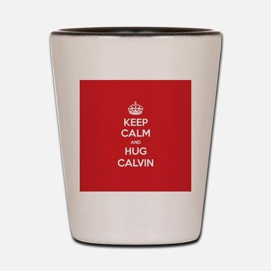 Hug Calvin Shot Glass