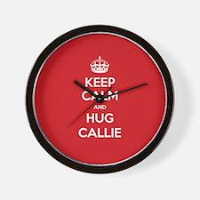 Hug Callie Wall Clock