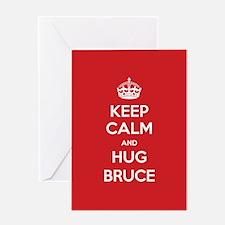 Hug Bruce Greeting Cards