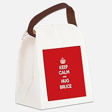 Hug Bruce Canvas Lunch Bag