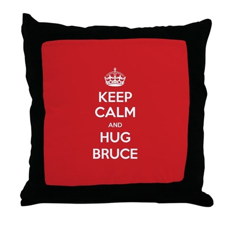 Hug Bruce Throw Pillow