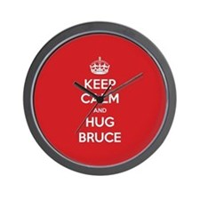 Hug Bruce Wall Clock