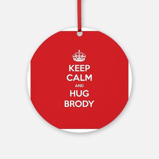 Hug Brody Ornament (Round)
