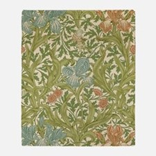 William Morris Iris Throw Blanket