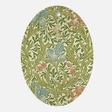 William Morris Iris Oval Ornament