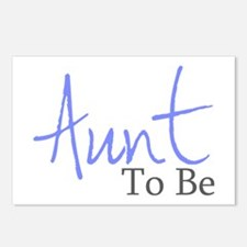 Aunt To Be (Blue Script) Postcards (Package of 8)