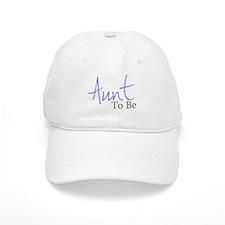 Aunt To Be (Blue Script) Baseball Cap