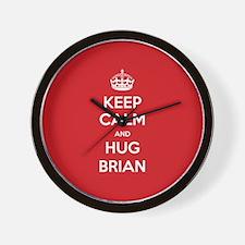 Hug Brian Wall Clock