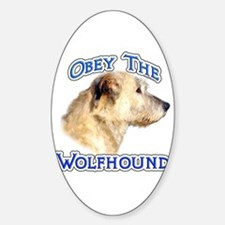 Wolfhound Obey Oval Decal