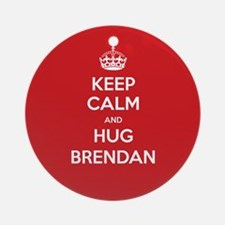 Hug Brendan Ornament (Round)
