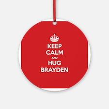 Hug Brayden Ornament (Round)
