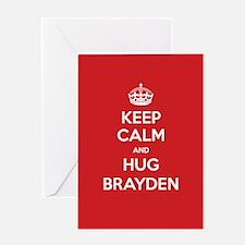 Hug Brayden Greeting Cards