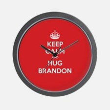 Hug Brandon Wall Clock