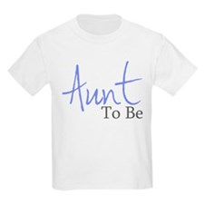 Aunt To Be (Blue Script) T-Shirt