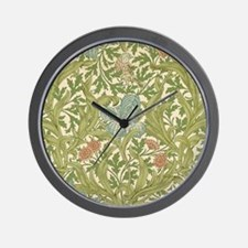 William Morris Iris Wall Clock