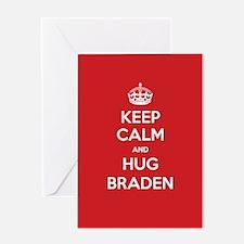 Hug Braden Greeting Cards