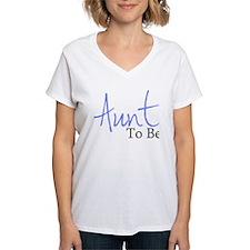 Aunt To Be (Blue Script) Shirt