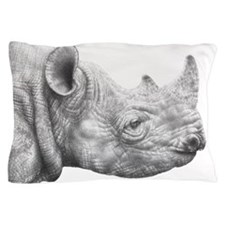 Black Rhino Pillow Case