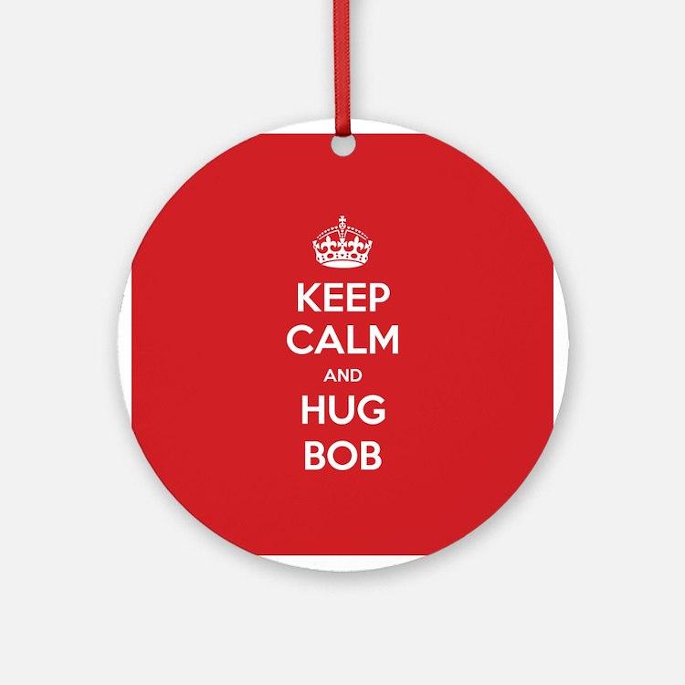 Hug Bob Ornament (Round)