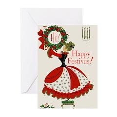 Vintage Wreath Festivus Cards (Pk of 10)