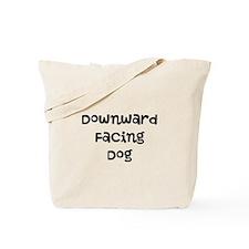 Downward Facing Dog Tote Bag