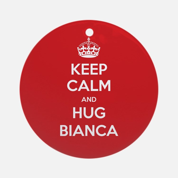 Hug Bianca Ornament (Round)