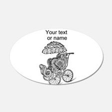 vintage retro baby carriage Wall Decal