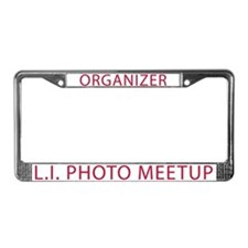 LI Photo Meetup License Plate Frame: Organizer