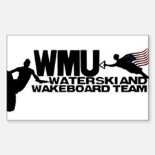 WMU Waterski Red White Blue Decal