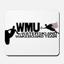 WMU Waterski Red White Blue Mousepad