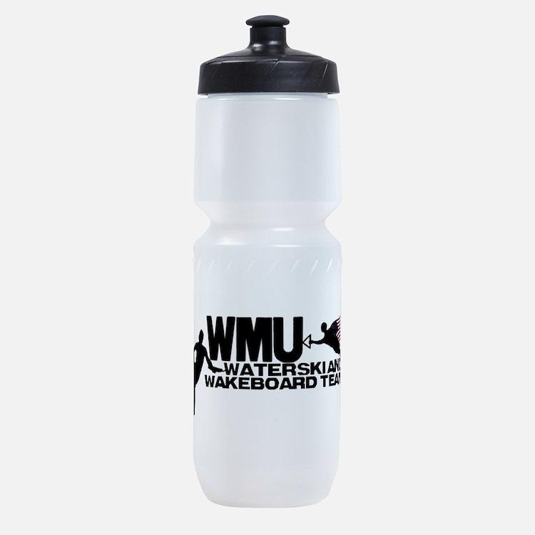 WMU Waterski Red White Blue Sports Bottle