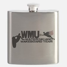 WMU Waterski Red White Blue Flask