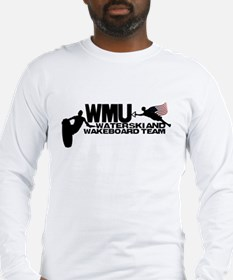 WMU Waterski Red White Blue Long Sleeve T-Shirt
