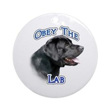 Lab Obey Ornament (Round)