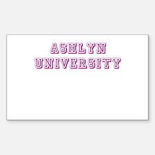 Ashlyn University Rectangle Decal