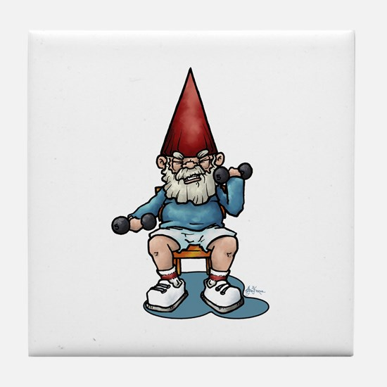 Sit 'N Be FIt Gnome Tile Coaster