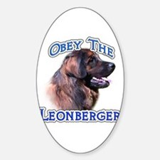 Leonberger Obey Oval Decal