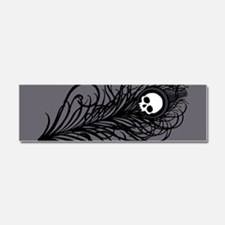 Gothic Black Peacock Feather Car Magnet 10 x 3