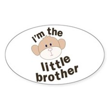 little brother monkey Oval Decal