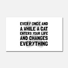 Cat Changes Everything Car Magnet 20 x 12