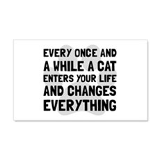 Cat Changes Everything Wall Decal
