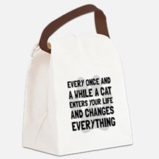 Cat Changes Everything Canvas Lunch Bag